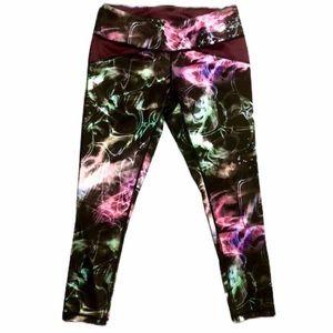 Asics Galaxy print leggings size small reversible